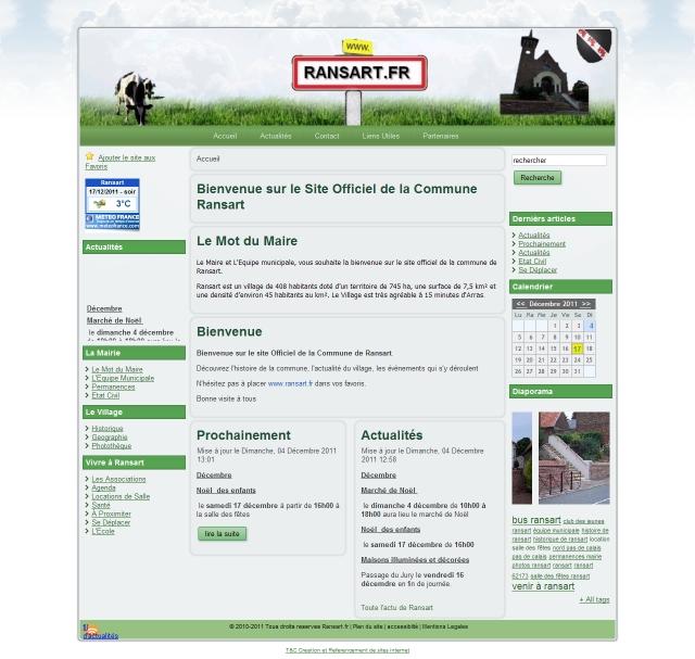 site internet de la Commune de Ransart