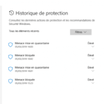 Windows un Histoire de protection
