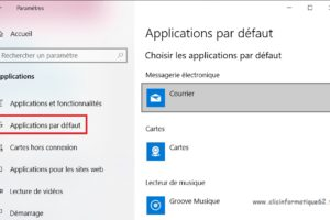 changer application programme par defaut windows 10