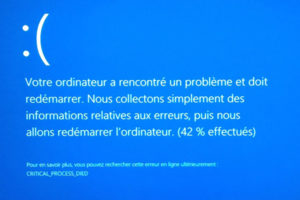 écran bleu windows 10
