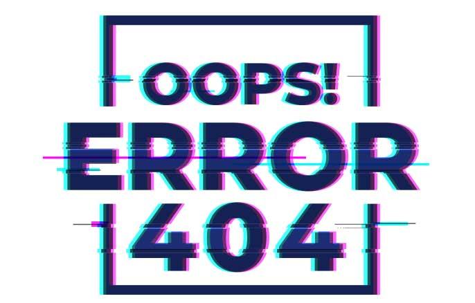 page 404 erreur maintenance site web