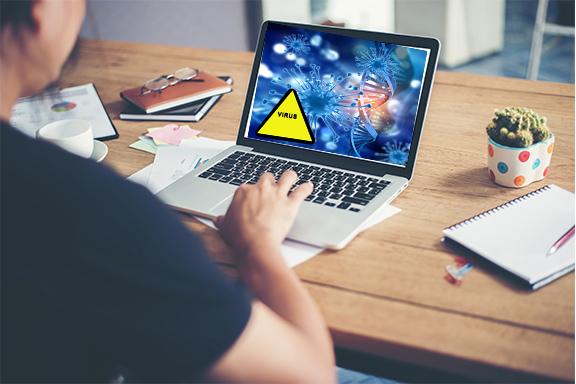Les sites web et les virus