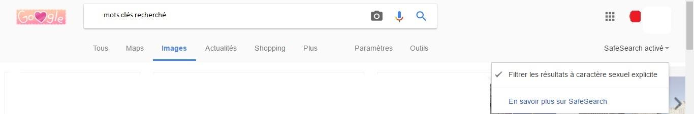 Filtre Google SafeSearch