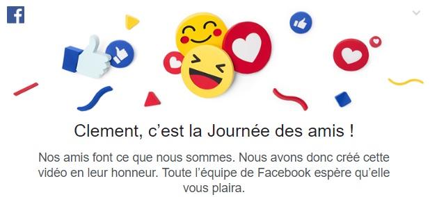 Facebook à 13 ans : Journée mondiale des amis