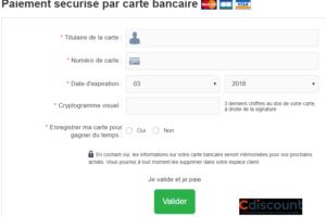L'interface de paiement en ligne