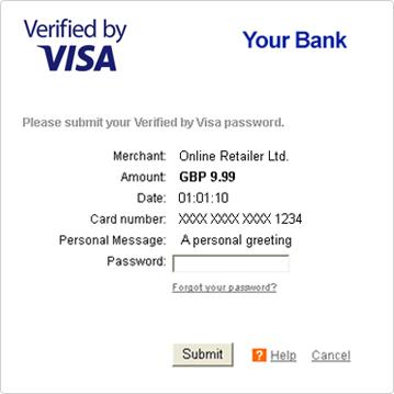 secure code visa