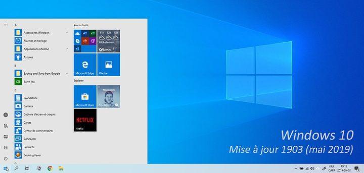 Windows 10 1903 : La liste des nouveautés